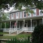 Porch perfect for relaxing and watching the slow pace of a beautiful & charming southern town
