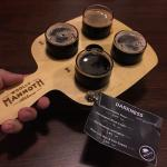 Parkness Tasting Paddle at the Woolly Mammoth Alehouse
