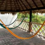 Hammocks on rooftop terrace