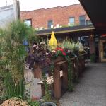 Entry by outdoor dining