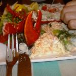 Half lobster and crab lunch