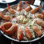 camarão jangadeiro, exemplo de prato, serve 3 pessoas, 140 reais aprox.