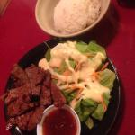 BBQ Beef, #22 Salad, and Fresh Rolls with meat (a MUST)