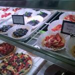 Wide variety of scratch-made pastries and tarts