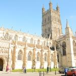 Exterior view of Gloucester Cathedral