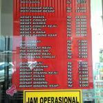 Daftar harga dan Jam operasional