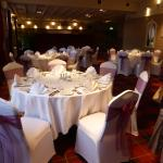 Golden wedding function room