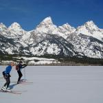Skate Skiing -crust cruising- in Grand Teton National Park, Jackson Hole (ph.S OMalley)