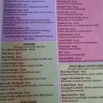 Dinner menu 1