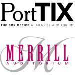 Logos for both PortTIX and Merrill Auditorium