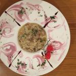 Un impeccabile risotto ai funghi  complimenti a al Comi Valentino