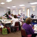 Our conference room provides a wonderful space for crafters