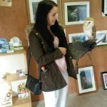Zoe holding a little owl