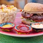 Bacon Cheeseburger with macaroni and cheese