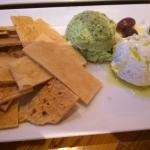 Appetizer platter with grilled pita