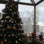 Christmas tree in the breakfast room