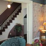 The elegant staircase and foyer