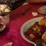 cena:tajin de pollo con ciruelas y peras