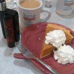 Coffee and the best Pumpkin pie ever.