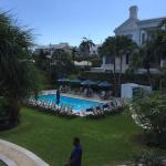 The pool and garden at the Rosedon
