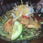 salad with sashimi