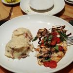 Wood grilled Tilapia with Garlic Mashed Potatoes were delicious