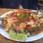 The BEST shrimp fajitas ever!