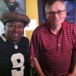With Kermit Ruffins at Mother-In-Law Lounge during a Saints game