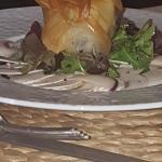 Poire caramel délicieux  foire gras maison homoniere de chèvre chaux