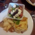 Moussaka and Greek Salad