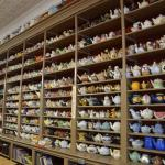Teapot Collection in Cafe