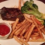Outback Flat Iron Steak with Aussie Fries and Veggies