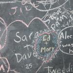 Chalk board in the breakfast room