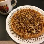 Apple-pecan waffle. Hash browns. Sanitation grade.