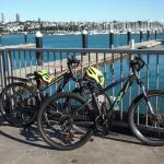 ヘルメットと鍵付自転車