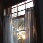 Blick aus dem Bett am Morgen