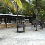 One of the outdoor restaurants