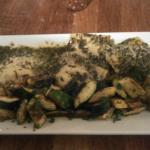 Chicken parmesan and ravioli pesto