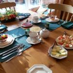 Orchard House breakfast table