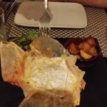 le camembert rôti aux truffes et pommes