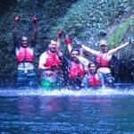 Group Photo from right in the river gorge