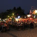 Dining right on the beach!