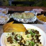Street Tacos, Tamale & Burrito
