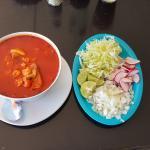 Pozole (pork & hominy soup)