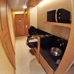 Walkway, mini kitchen