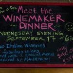 Wine event sign