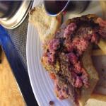 Hamburger from Room Service