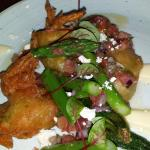 Zucchini flowers stuffed with crab