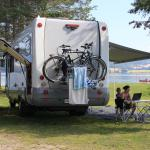 Nice places for caravans, tents and campers by lake Mjøsa