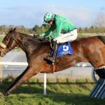 Holeinthewall Bar and Mikey Fogarty winning The Forenaghts Stud Handicap Hurdle at Limerick